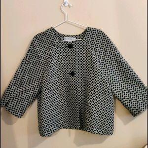 Sagharbor Size12 Black&White Print Dress Jacket